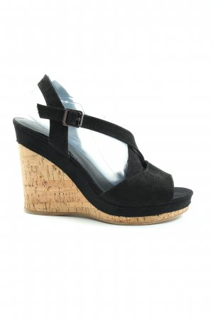 Graceland Wedge Sandals black casual look