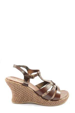 Graceland Sandały na platformie brązowy W stylu casual