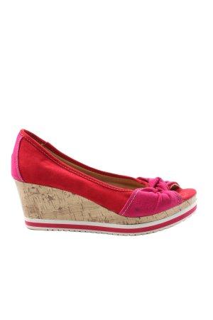 Graceland Plateau-Sandalen rot-pink Casual-Look
