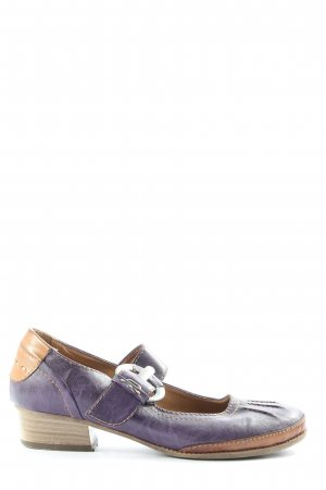Graceland Chaussures Mary Jane bleu-brun style décontracté