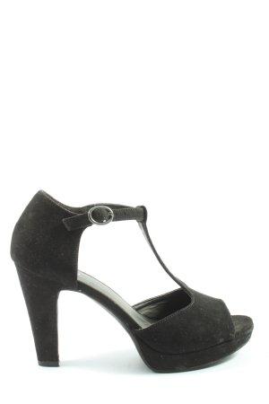 Graceland Plateau-Sandaletten schwarz Elegant
