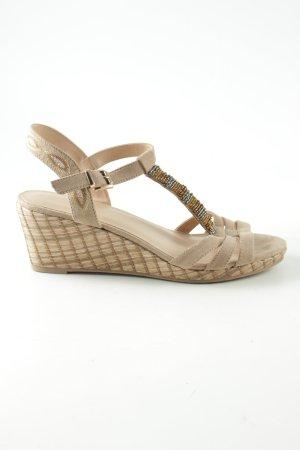 Graceland Platform High-Heeled Sandal natural white casual look