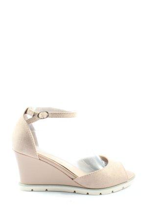 Graceland Sandały na grubym obcasie w kolorze białej wełny W stylu casual