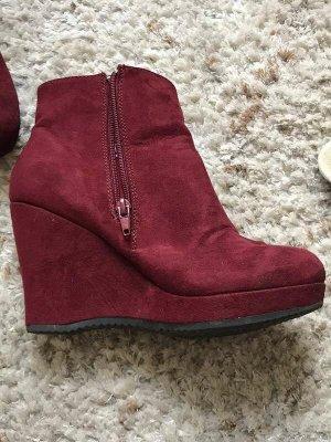 Graceland Plateau-Schuhe mit Keilabsatz [Weinrot, Gr. EU 36]