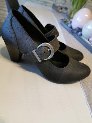 Graceland Tacones de plataforma gris antracita