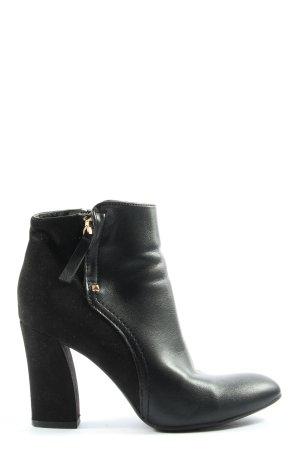 Graceland Reißverschluss-Stiefeletten schwarz Elegant