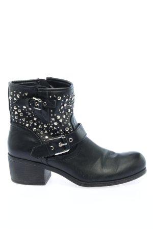 Graceland Reißverschluss-Stiefeletten schwarz Casual-Look