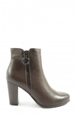 Graceland Reißverschluss-Stiefeletten braun-silberfarben Casual-Look