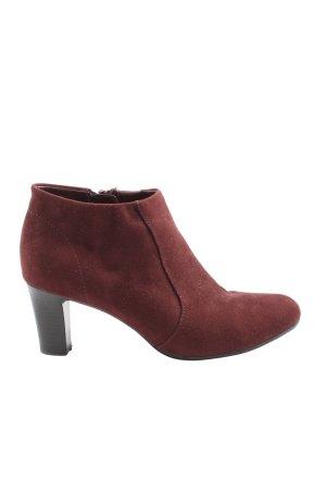 Graceland Reißverschluss-Stiefeletten rot Casual-Look