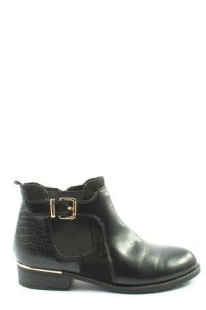 Graceland Reißverschluss-Stiefeletten schwarz Allover-Druck Casual-Look