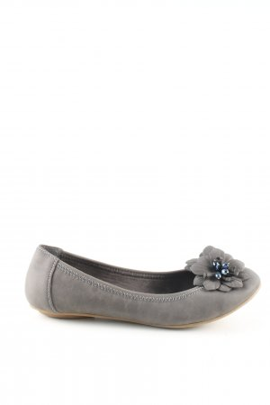 Graceland Strappy Ballerinas light grey casual look