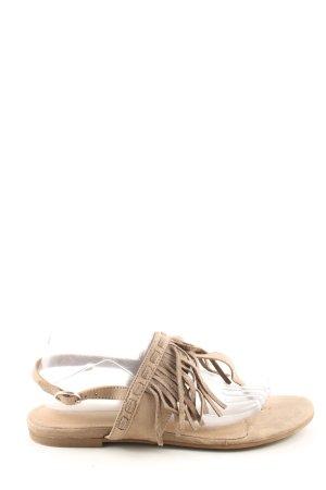 Graceland Sandalen met bandjes bruin casual uitstraling