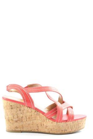 Graceland Riemchen-Sandalen rot-wollweiß Casual-Look