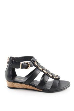 Graceland Riemchen-Sandalen schwarz Casual-Look