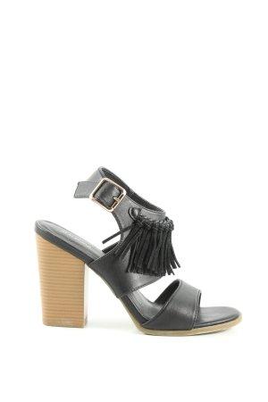Graceland Riemchen-Sandaletten schwarz Business-Look