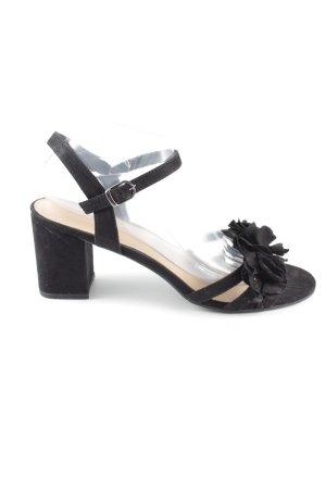 Graceland Sandalen met bandjes en hoge hakken zwart zakelijke stijl