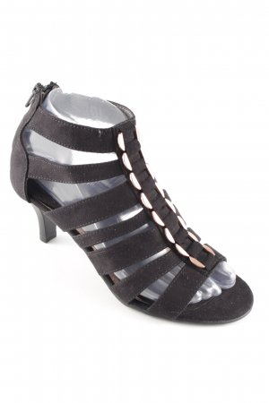 Graceland Riemchen-Sandaletten schwarz-roségoldfarben Elegant