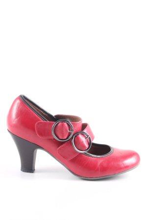 Graceland Décolleté con cinturino rosso elegante
