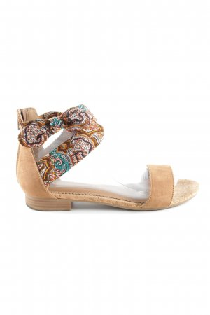 Graceland Roman Sandals brown graphic pattern casual look