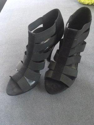 Graceland Sandaletten schwarz in 38 mit Gummi