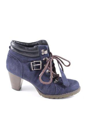 Graceland Schnür-Stiefeletten blau Casual-Look
