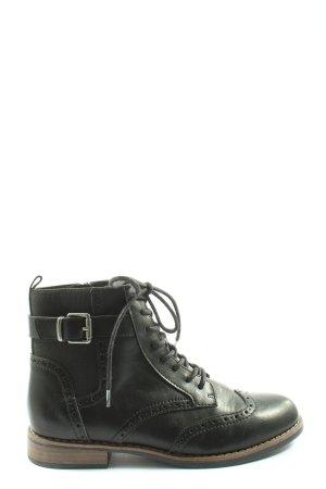 Graceland Schnür-Stiefeletten schwarz Casual-Look