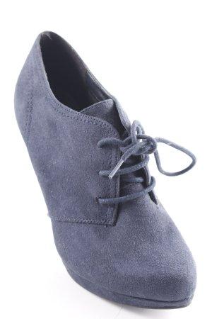 Graceland Schnür-Stiefeletten dunkelblau schlichter Stil