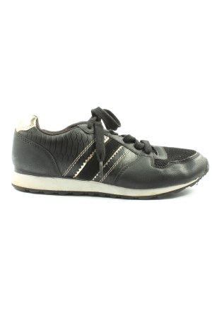 Graceland Sneaker stringata nero-oro stile casual