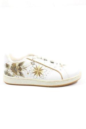 Graceland Schnürsneaker weiß Blumenmuster Casual-Look