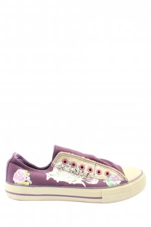 Graceland Slip-on Sneakers lilac-cream themed print casual look