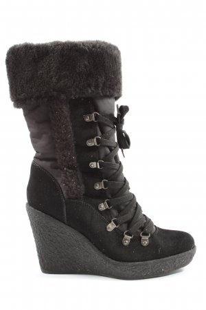Graceland Slouch Booties black casual look