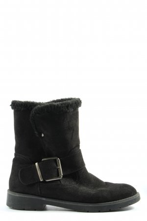 Graceland Slouch Booties black-silver-colored casual look
