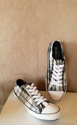 Graceland Sneakers weiß/grau kariert mit Glitzer - neu