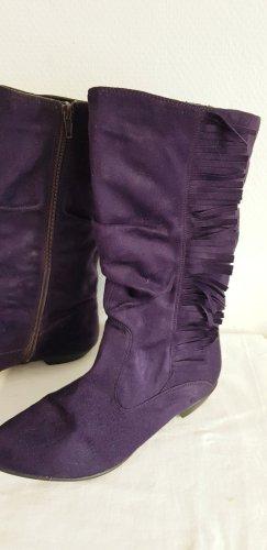 Graceland Botas estilo vaquero violeta amarronado