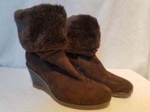 Graceland Bottes fourrées brun faux cuir