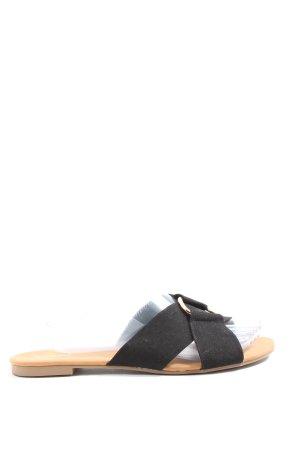 Graceland Sandały plażowe czarny W stylu casual