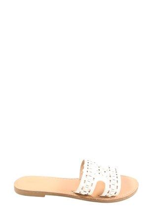 Graceland Strandsandalen wit-wolwit grafisch patroon casual uitstraling