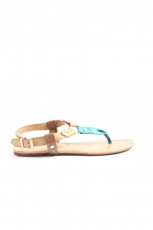 Graceland Beach Sandals brown-blue casual look