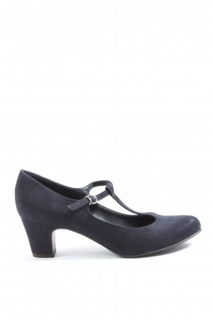 Graceland T-Steg-Pumps blau Business-Look