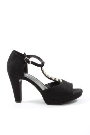 Graceland T-Strap Sandals black elegant