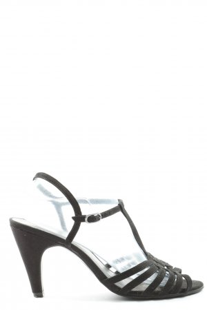 Graceland T-Strap Sandals black casual look