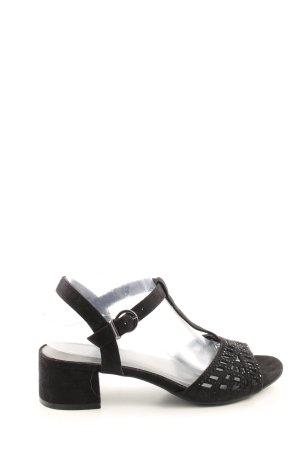 Graceland T-Strap Sandals black casual look