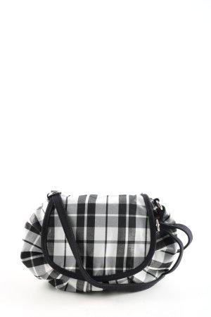 Graceland Umhängetasche schwarz-weiß Karomuster Casual-Look
