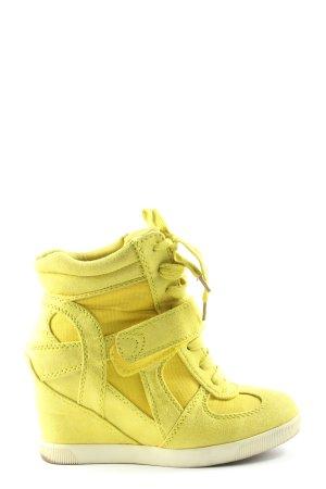 Graceland Trampki klinowe bladożółty W stylu casual