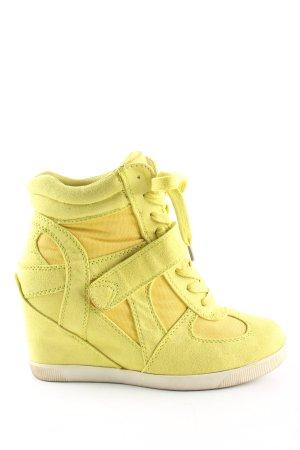 Graceland Sneaker con zeppa giallo pallido stile casual