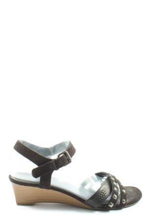 Graceland Wedges Sandaletten braun Casual-Look