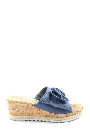 Graceland Sandały klinowe na obcasie niebieski W stylu casual