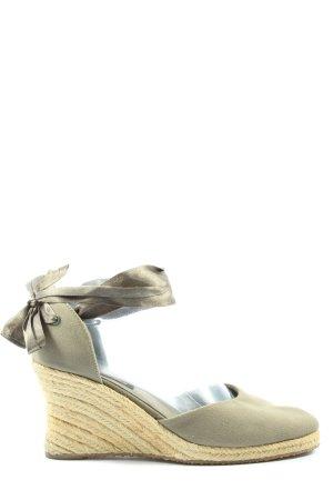 Graceland Wedges Sandaletten hellgrau-creme Casual-Look