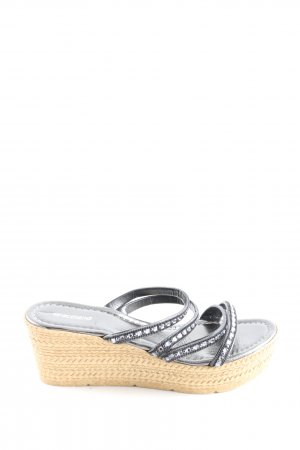 Graceland Wedge Sandals black-cream casual look