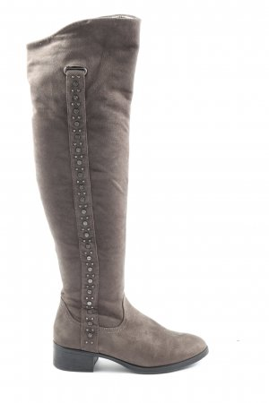 Graceland Wide Calf Boots light grey casual look